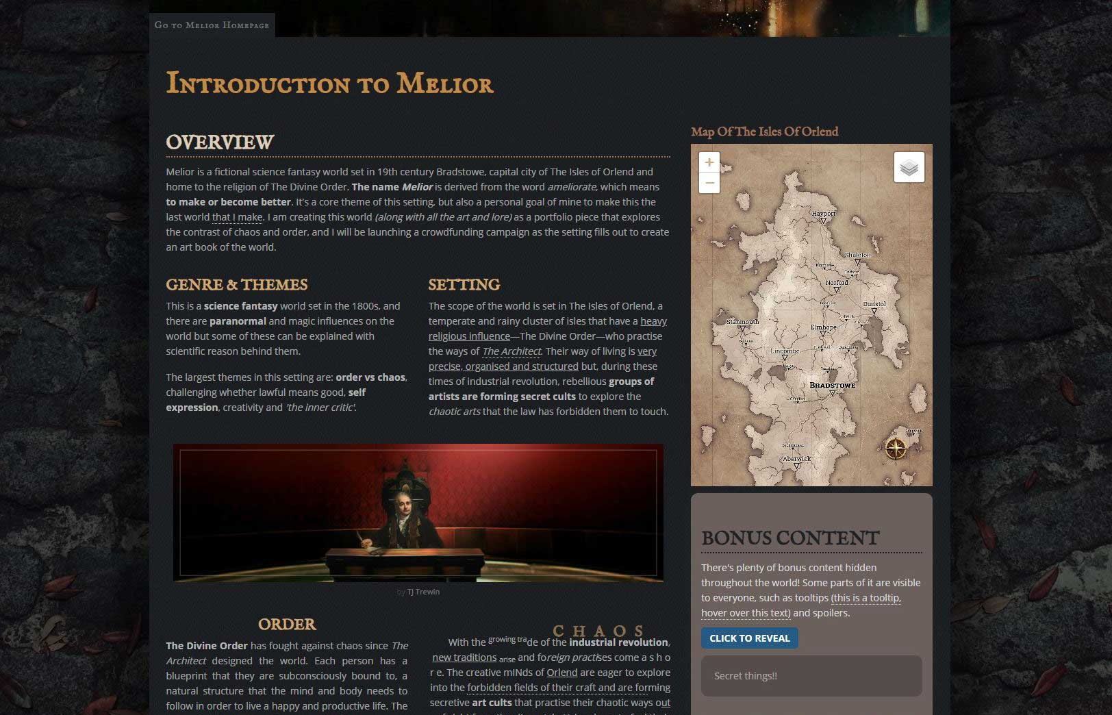 Introduction to Melior by TJ Trewin