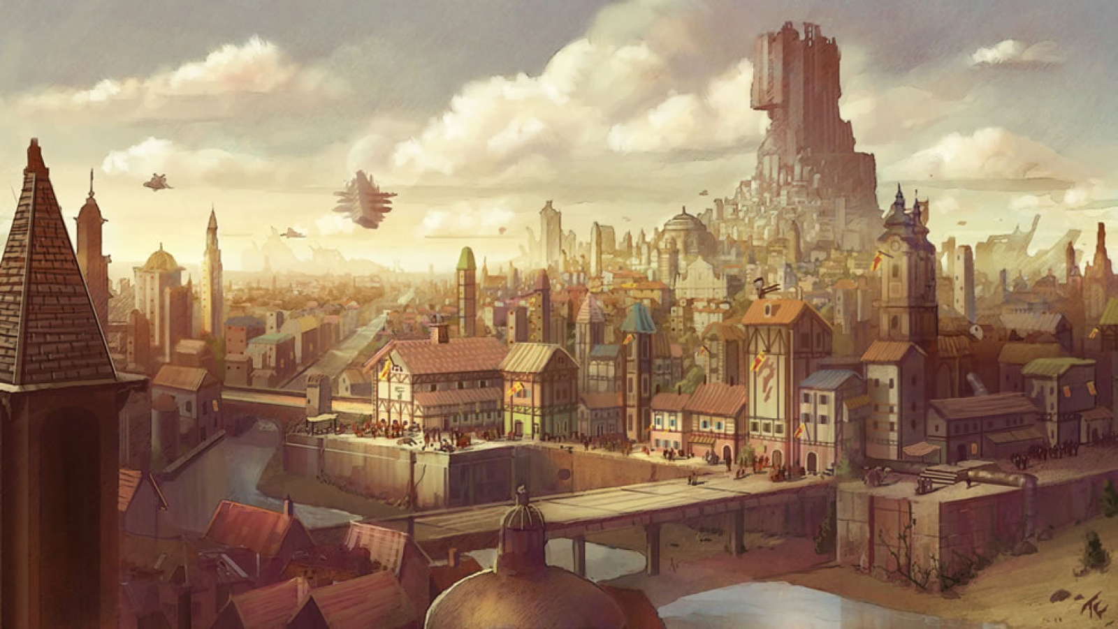 steampunk city names - HD 1600×902