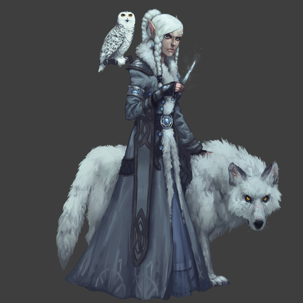 Snow Elven Witch of Iskaldhal