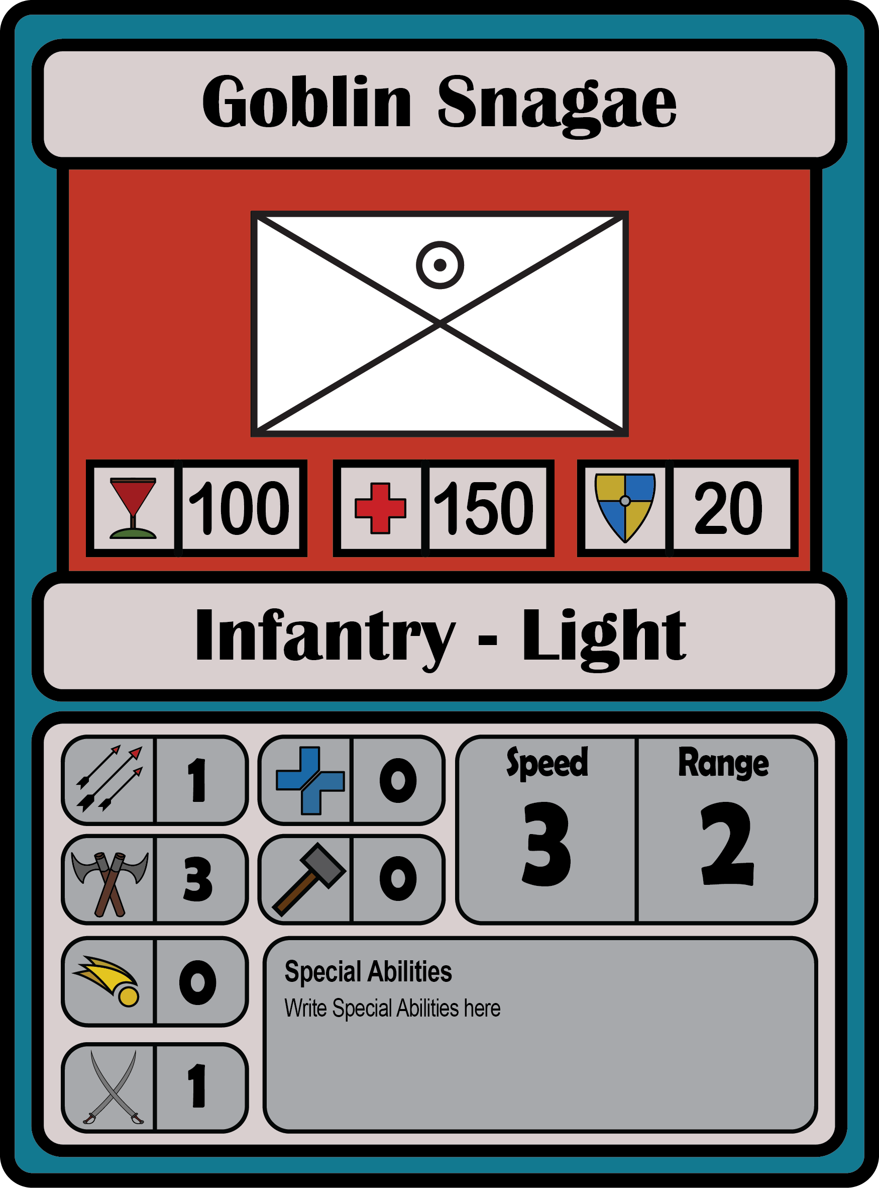 Early unit card