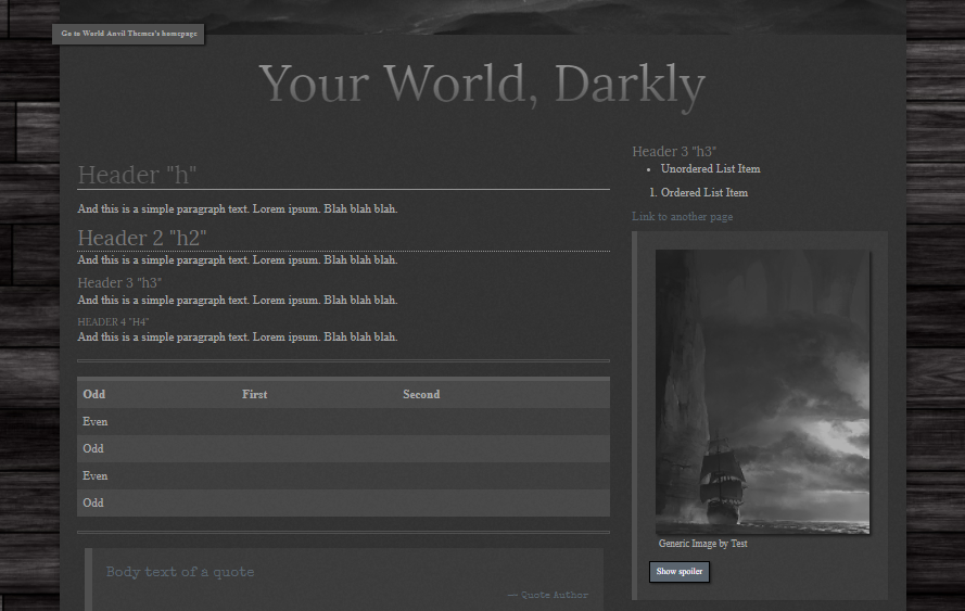 Your World, Darkly