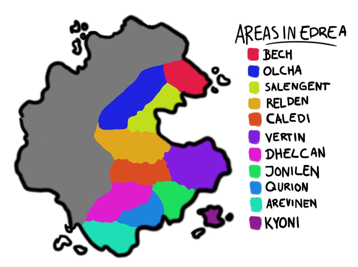 Edrea areas