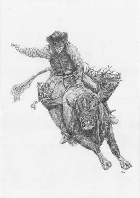 Картинки дикого запада карандашом
