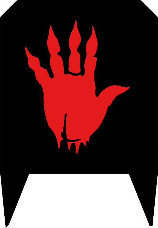 Bloodfist sable a primitive hand gules in full.png
