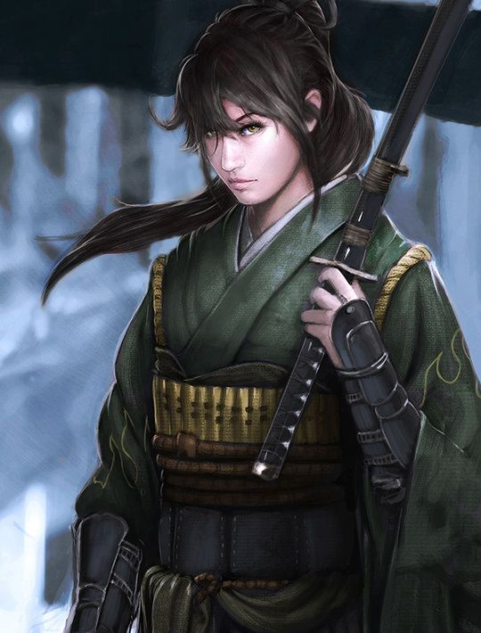 Asian fantasy art women warriors and