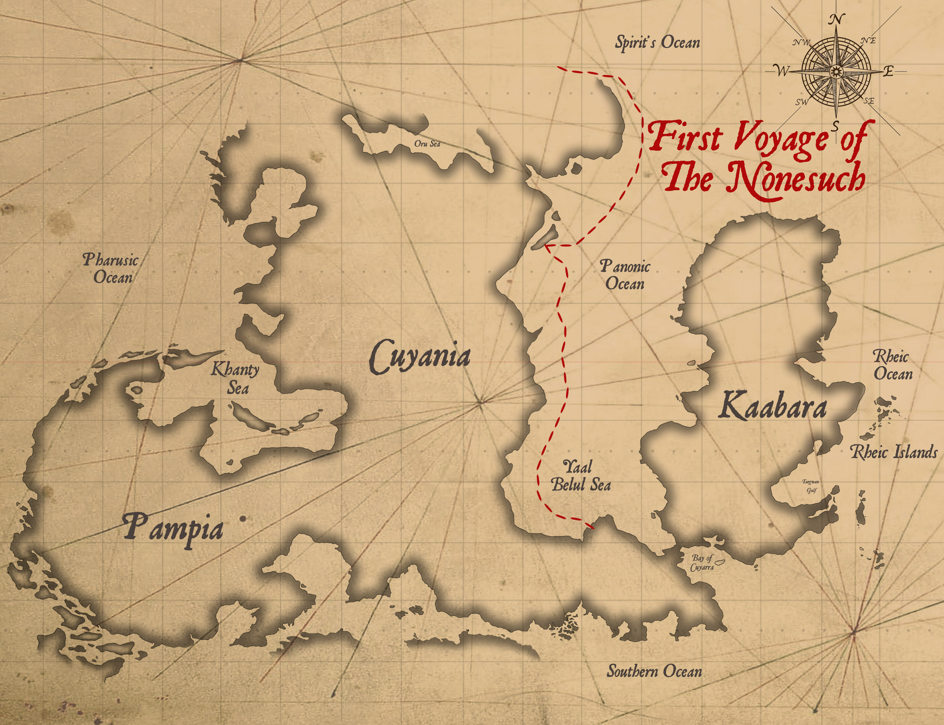 1st Voyage Map