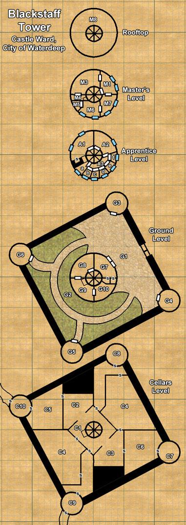 Blackstaff Tower Map   World Anvil