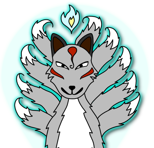 9-tailed Grey Kitsune by Amy Winters-Voss.png