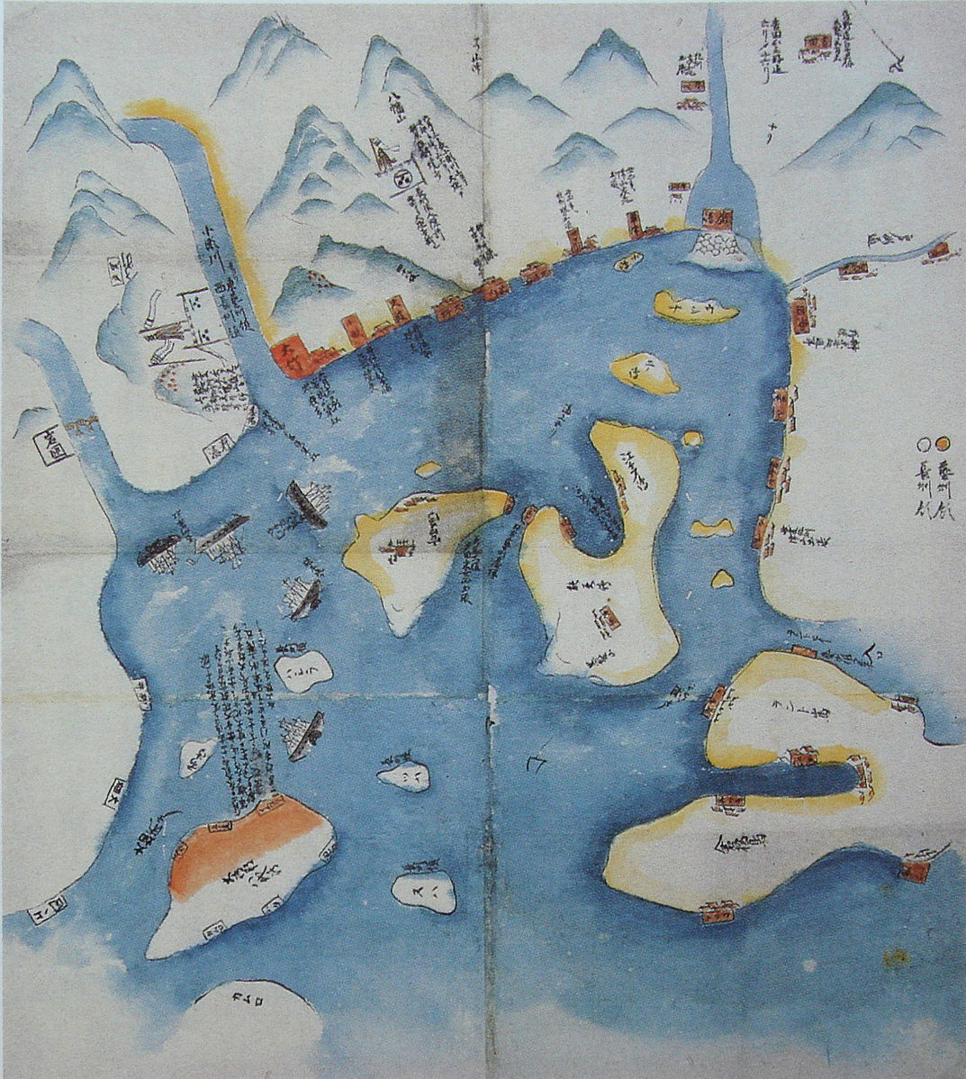 Operations Map of the Second Choushuu Expedition by Sakamoto Ryoma