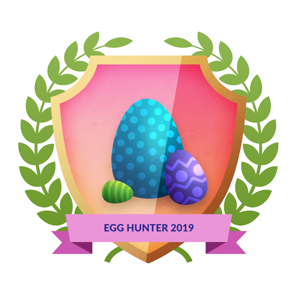 easter egg hunt badge