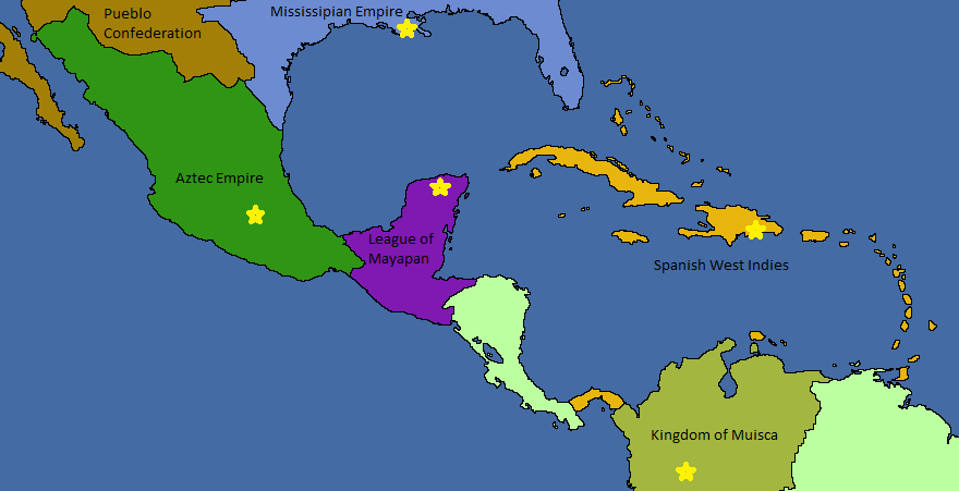 Mesoamerica Map 1520 World Anvil