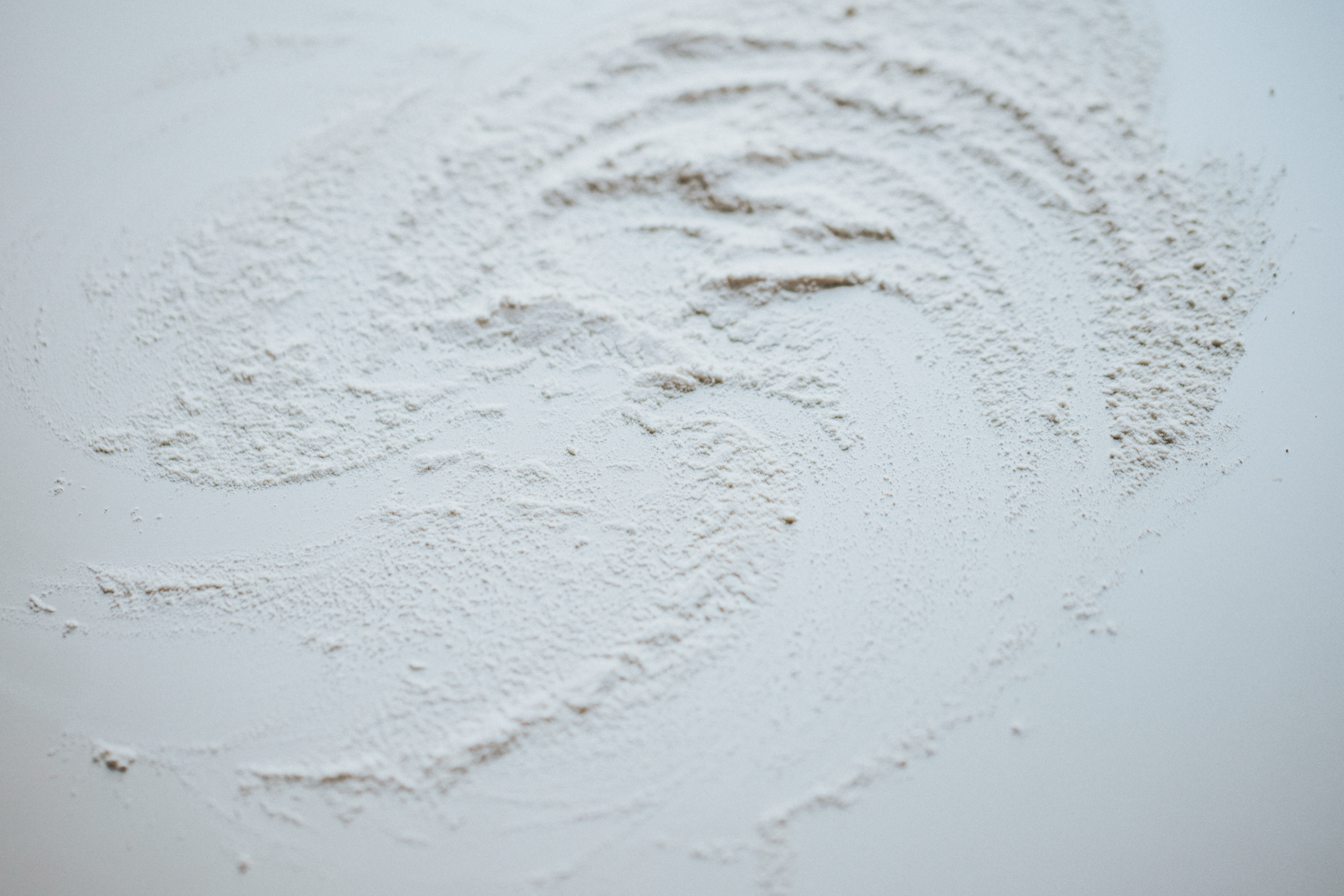 powder on white surface