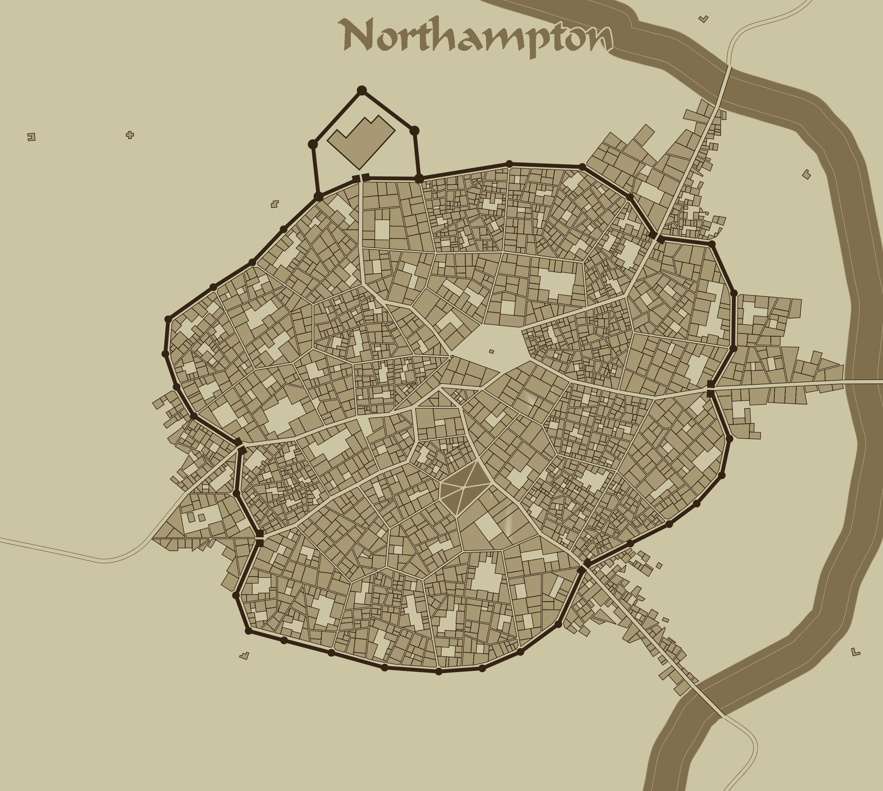 Northampton City Map