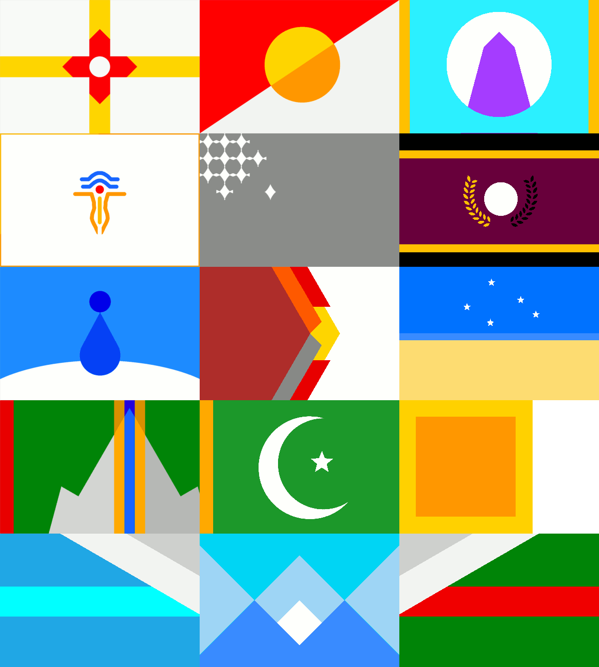 Vabuian Nation Flags