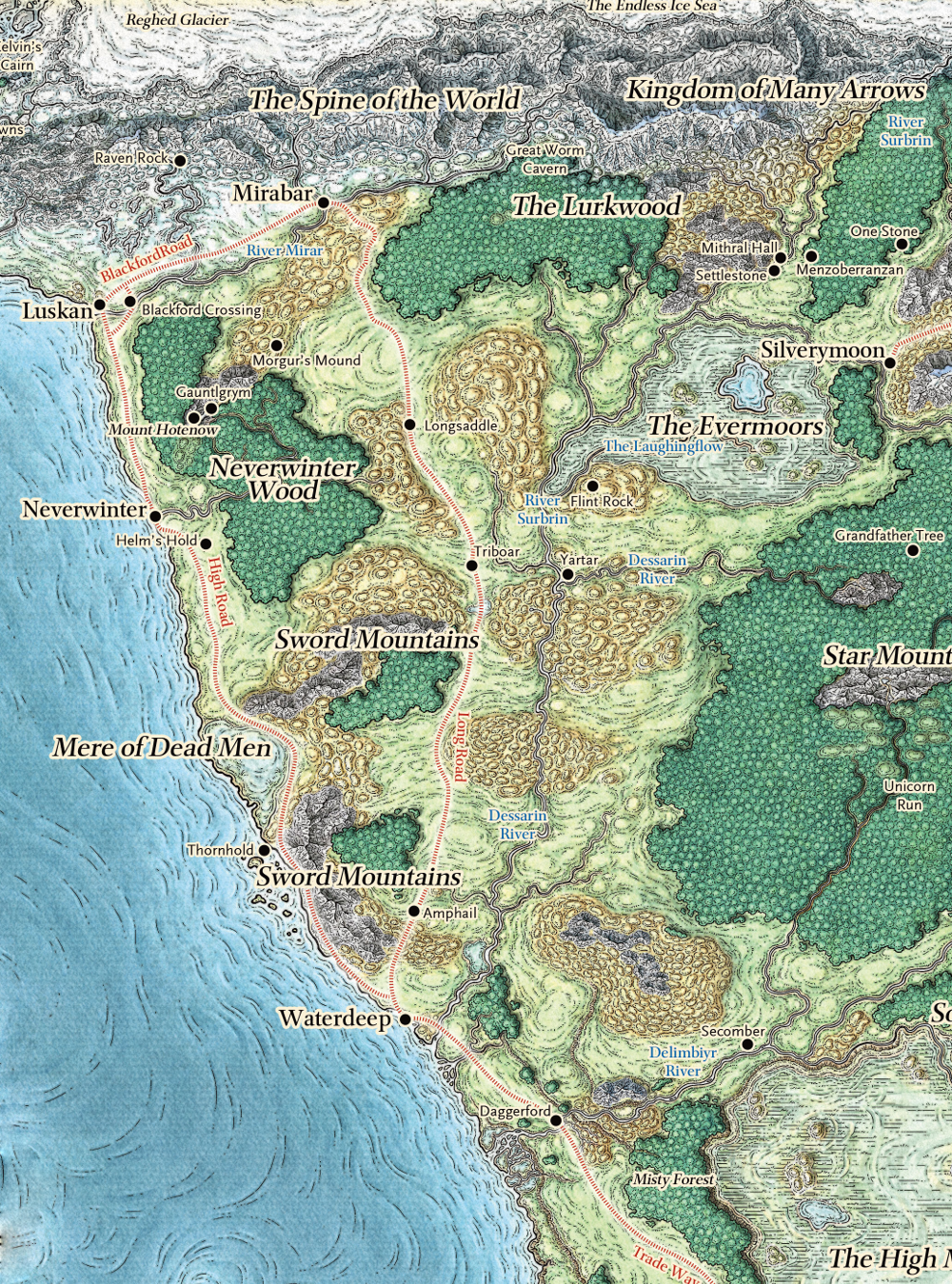 Sword Coast North Geographic Location in Realmspace and