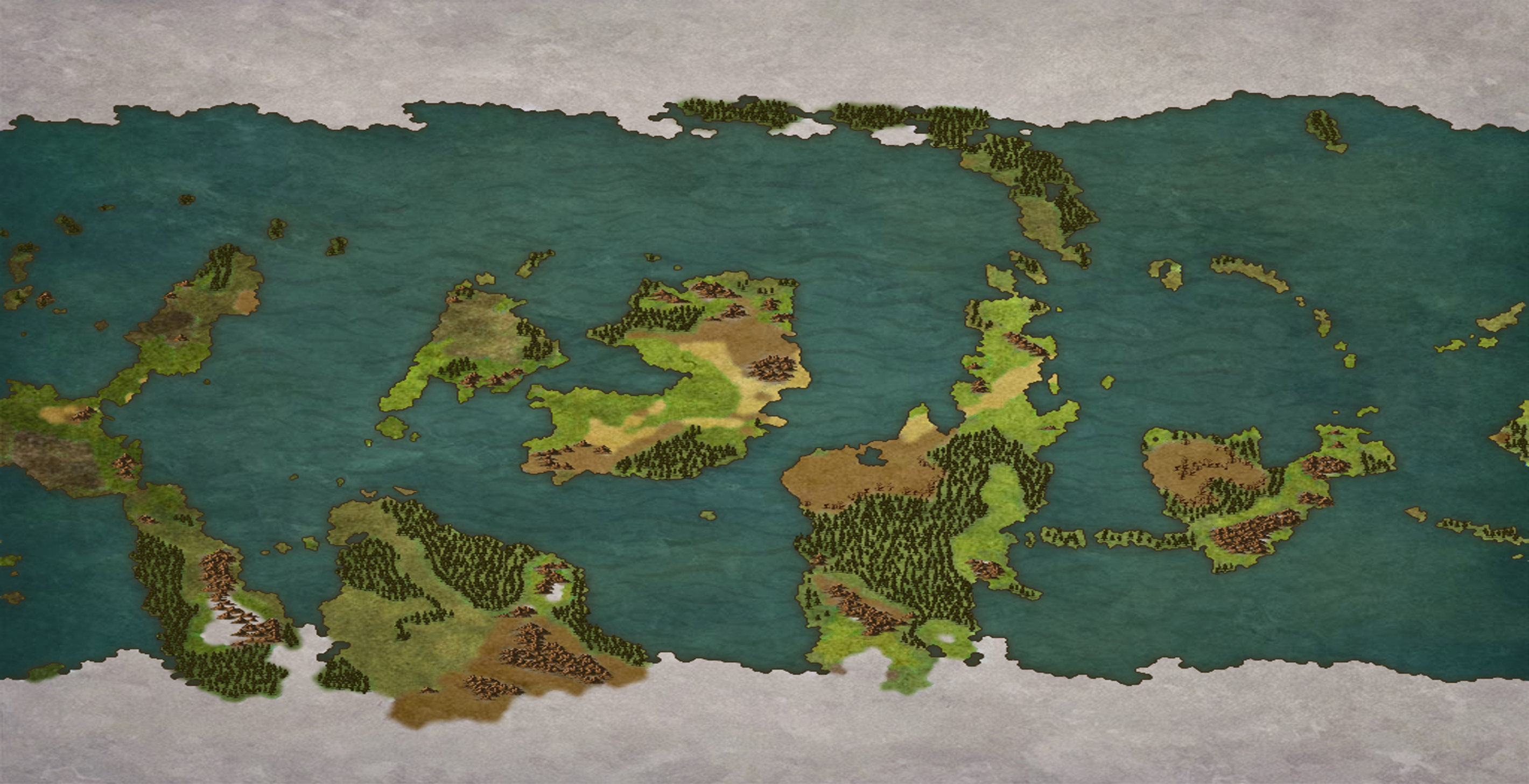 Clean proportional Worldmap cover | World Anvil