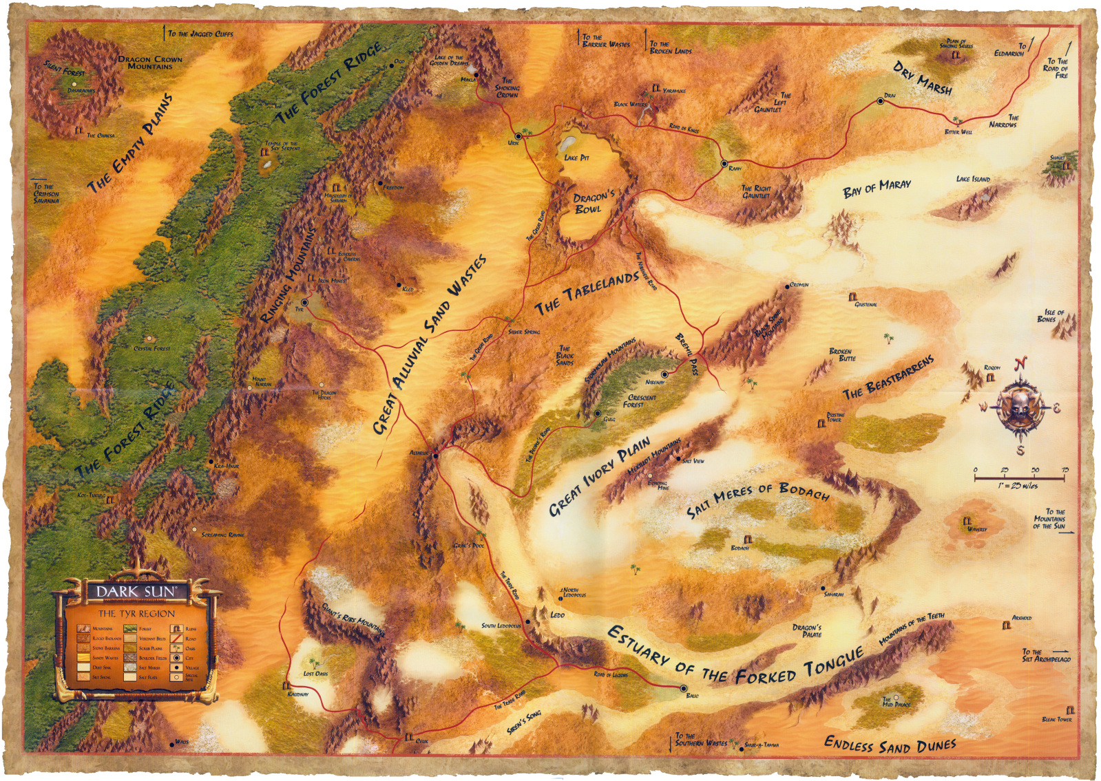 Map of Athas in Dark Sun Over Athas| World Anvil