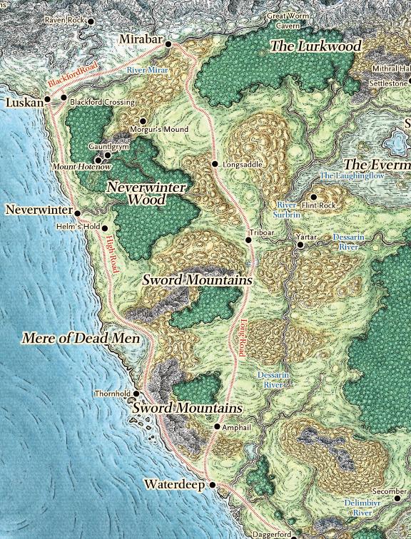 Sword Coast North in Forgotten Realms| World Anvil