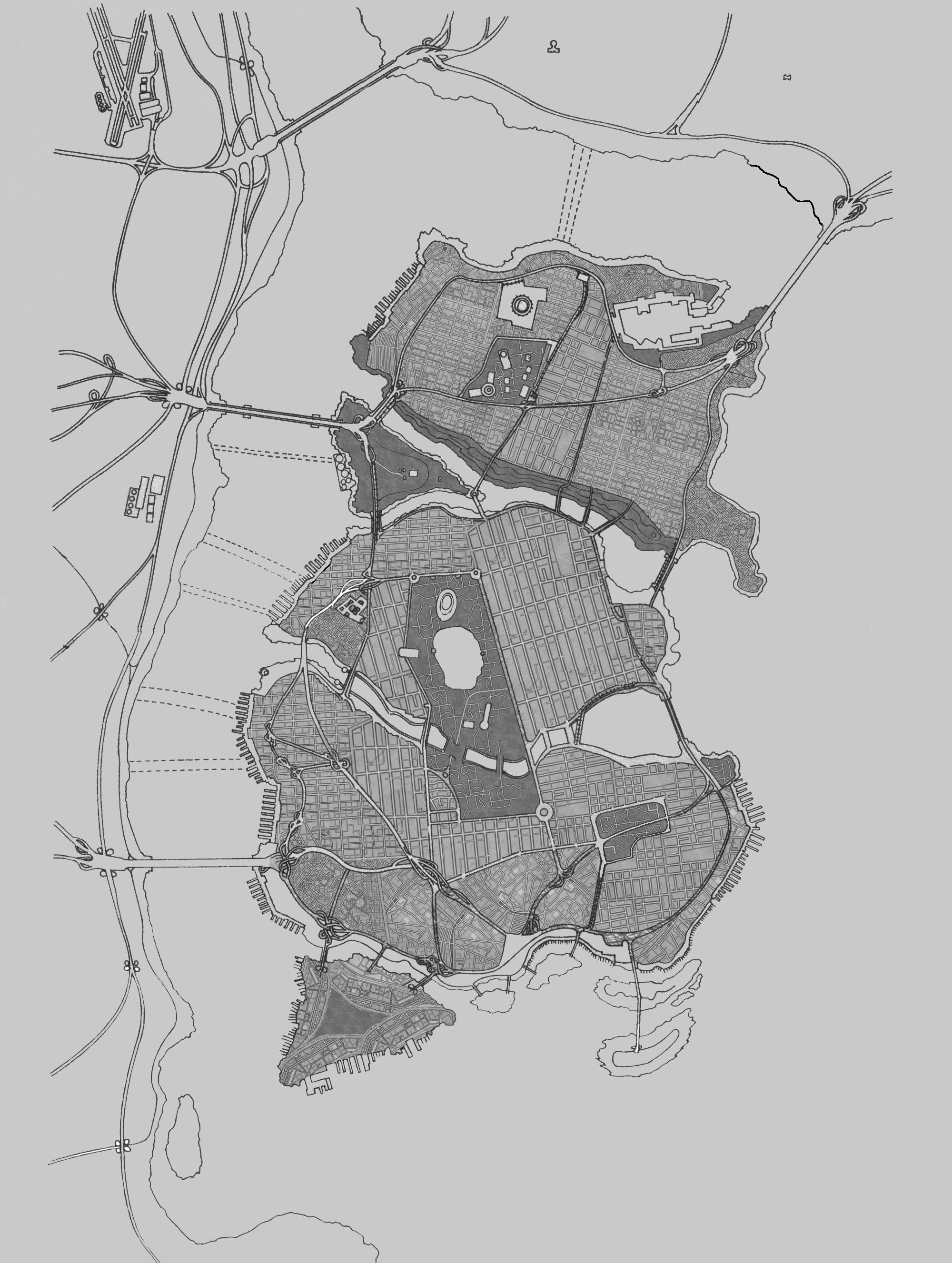 Map of Gotham City cover   World Anvil Gotham Map on