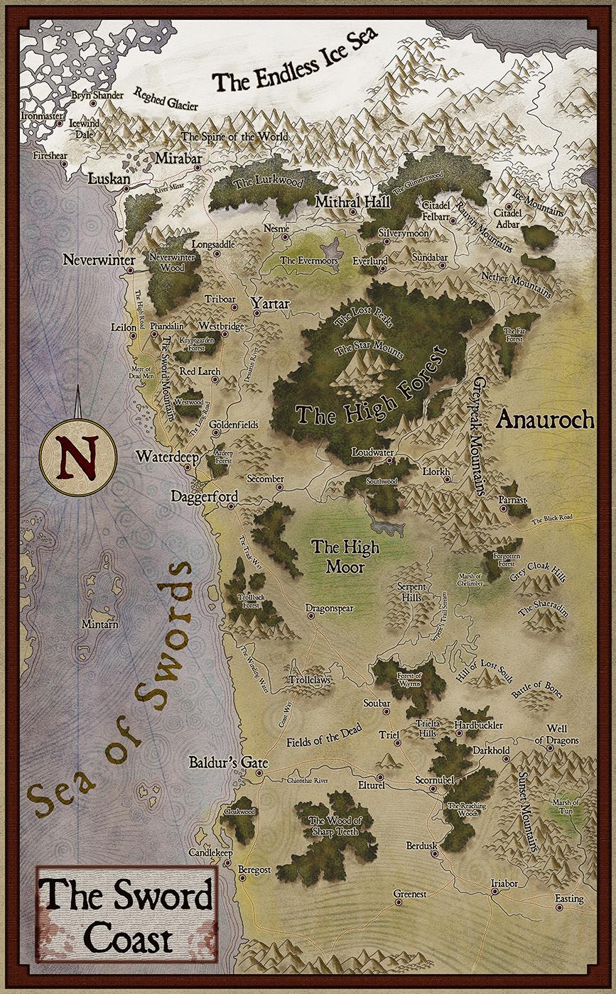 Sword Coast in Faerûn  World Anvil