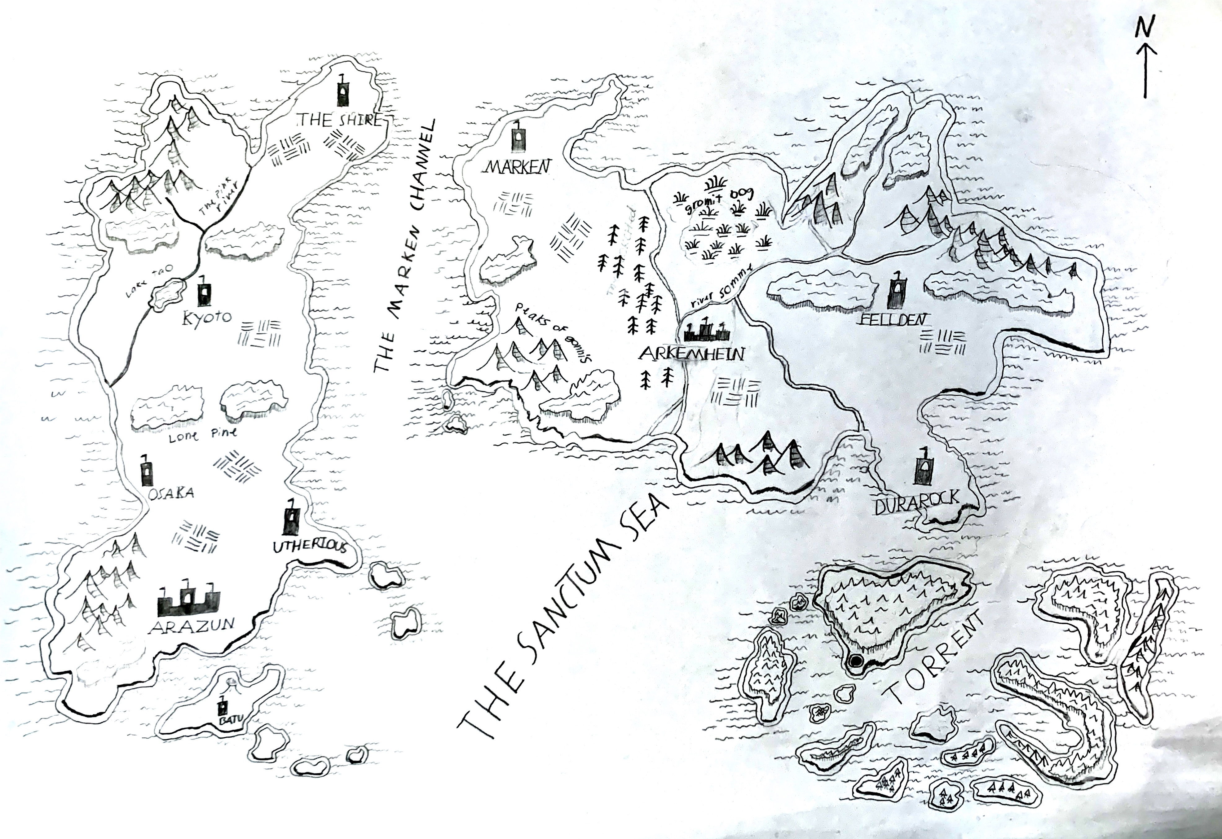 world map of velious in the return of the two spheres| World