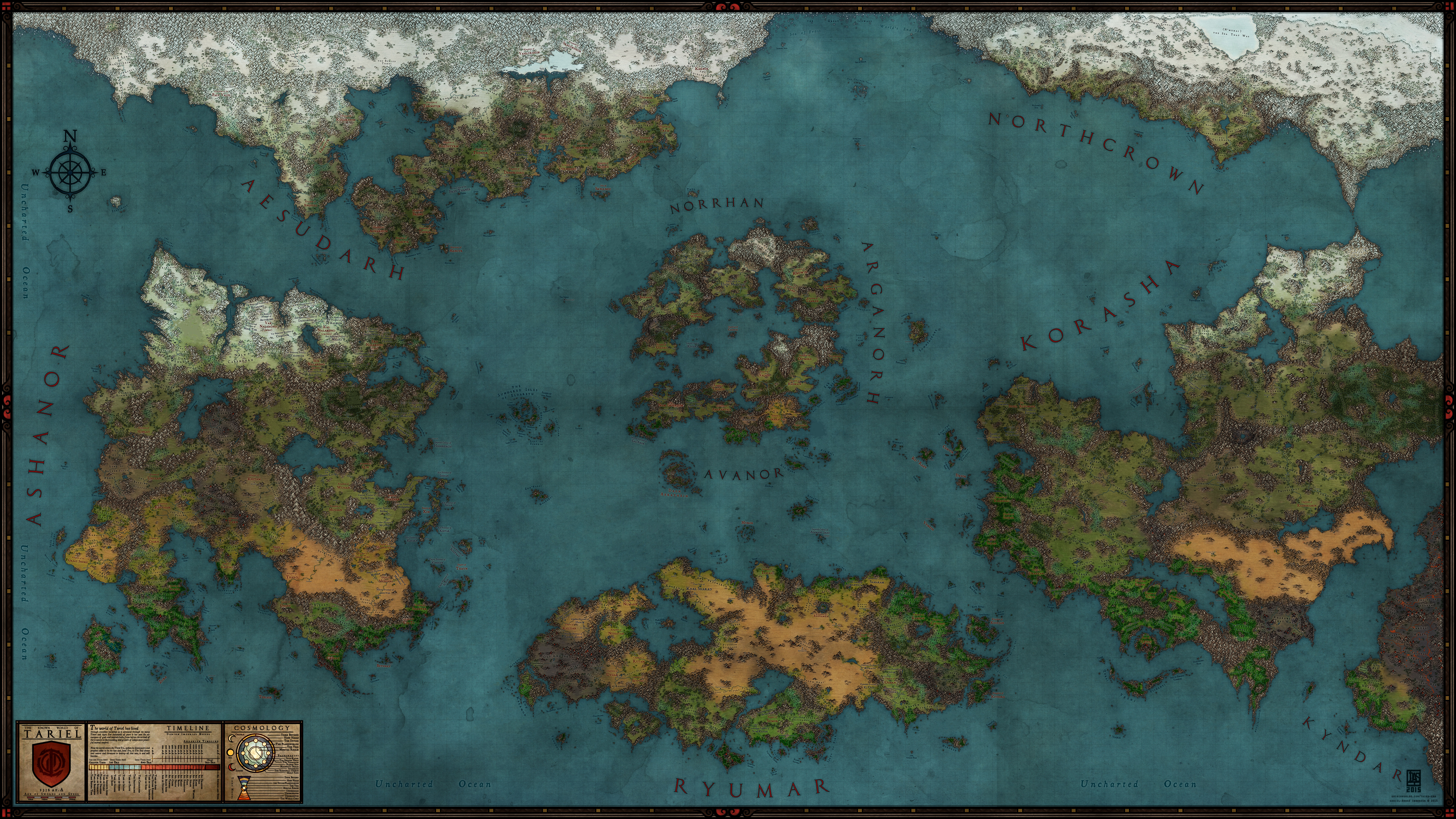 Tariel world map cover world anvil tariel world map cover view gumiabroncs Choice Image