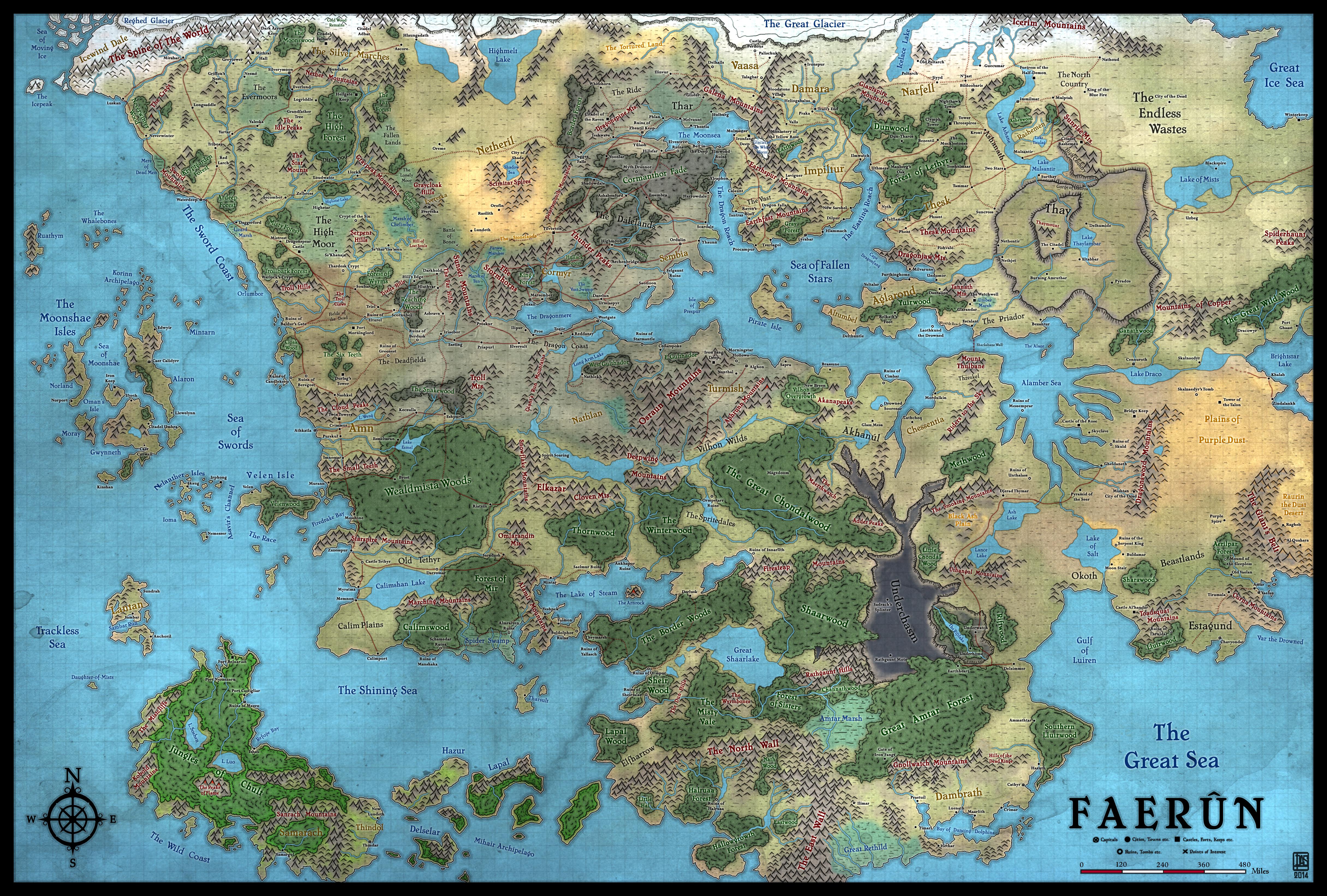 Levodoom's Faerun (1499 DR) in Forgotten Realms: Moonfall